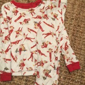 Pottery barn kids elf on the shelf pajamas size 4